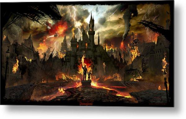 Post Apocalyptic Disneyland Metal Print