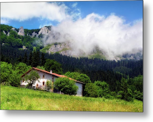 Postcard From Basque Country Metal Print
