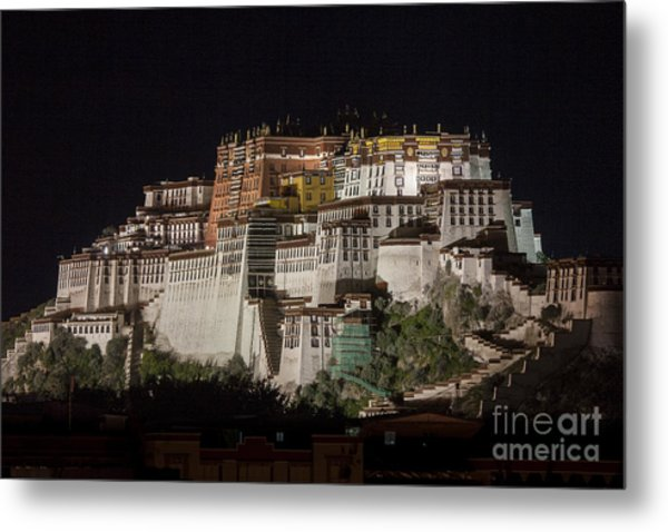 Potala Palace At Night Metal Print