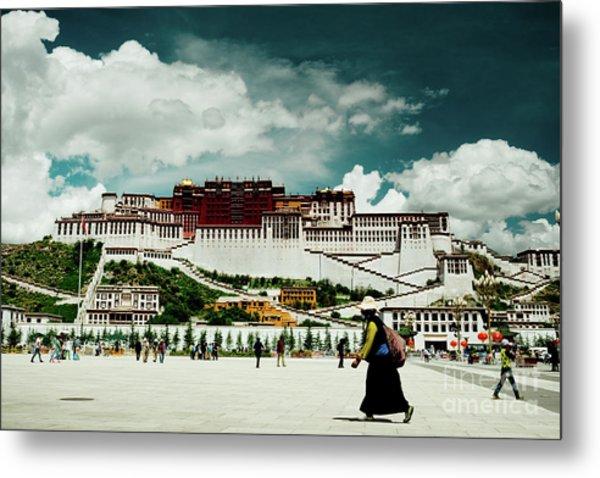 Metal Print featuring the photograph Potala Palace. Lhasa, Tibet. Yantra.lv by Raimond Klavins