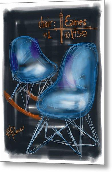 Potato Chip Chair Metal Print