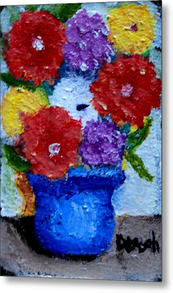 Potted Flowers Metal Print