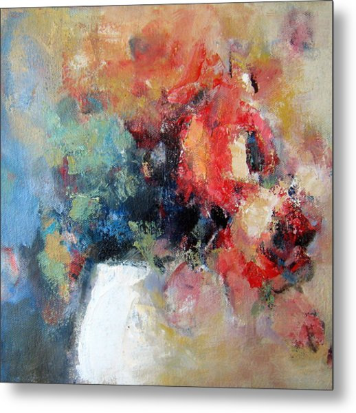 Potted Roses 1 Metal Print by Sharleen Boaden