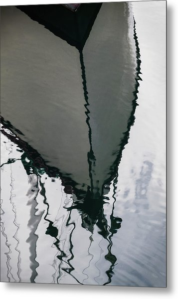 Poulsbo Boat Abstract Metal Print