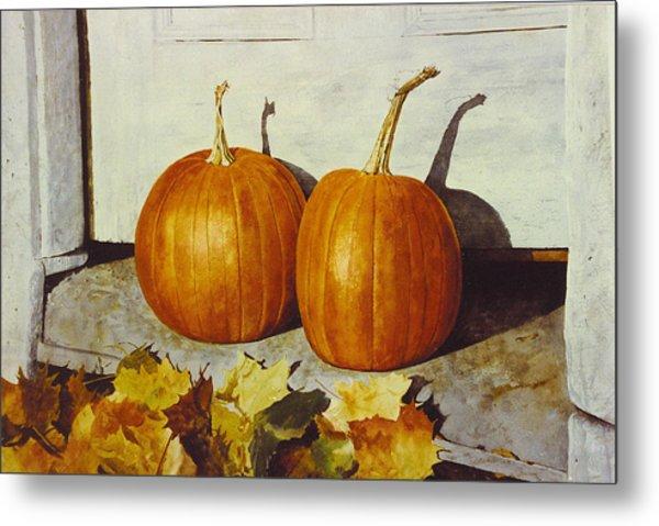 Povec's Pumpkins Metal Print