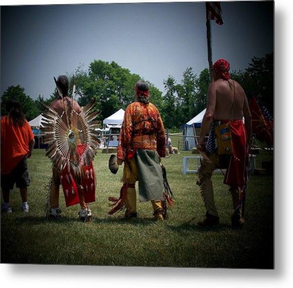 Pow Wow Metal Print by Vijay Sharon Govender