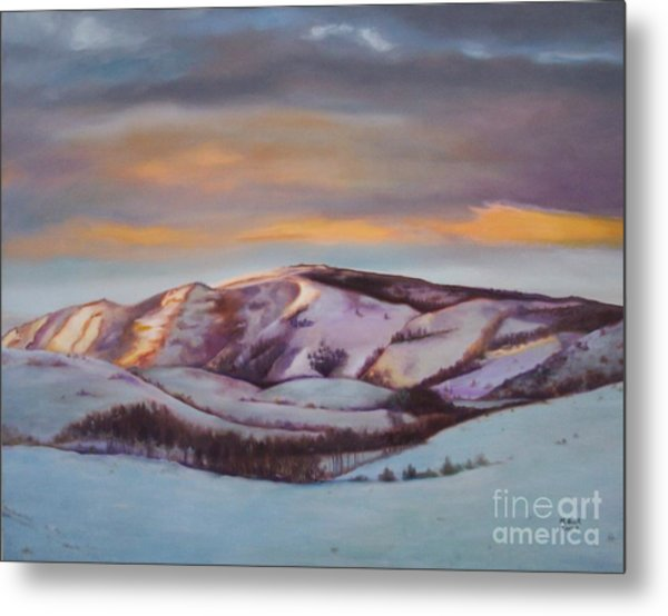 Powder Mountain Metal Print