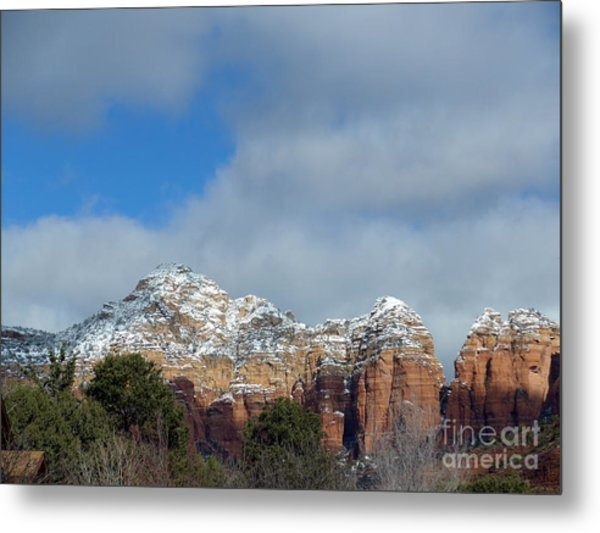 Powdered Sugar Sedona Red Rocks Metal Print