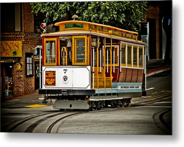 Powell And Hyde Metal Print by PMG Images