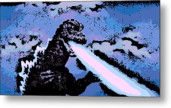 Power Blast Metal Print