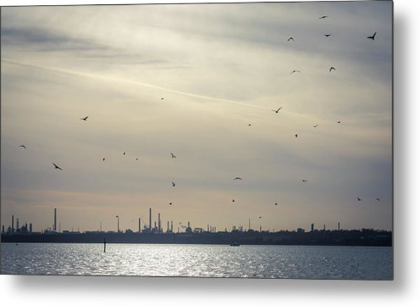 Power By The Sea Metal Print