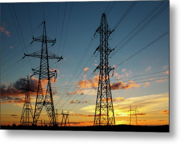 Power Cables Metal Print