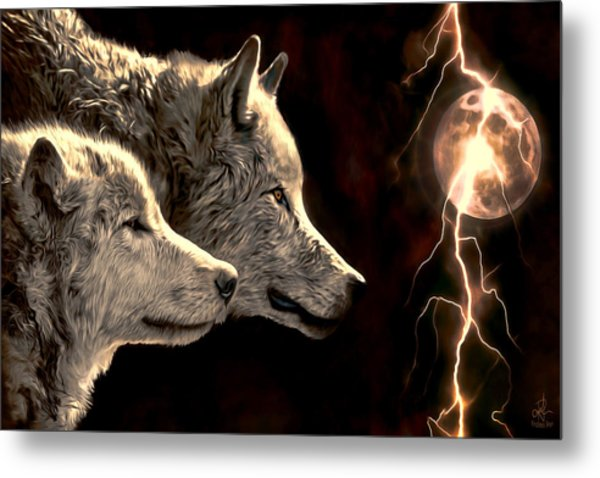 Power Of The Moon Metal Print