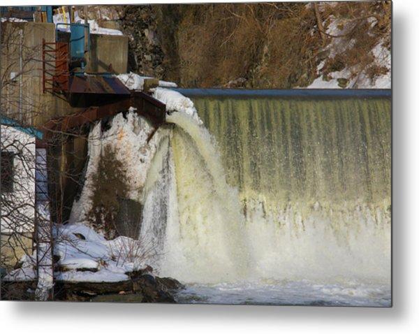 Power Station Falls On Black River One Metal Print