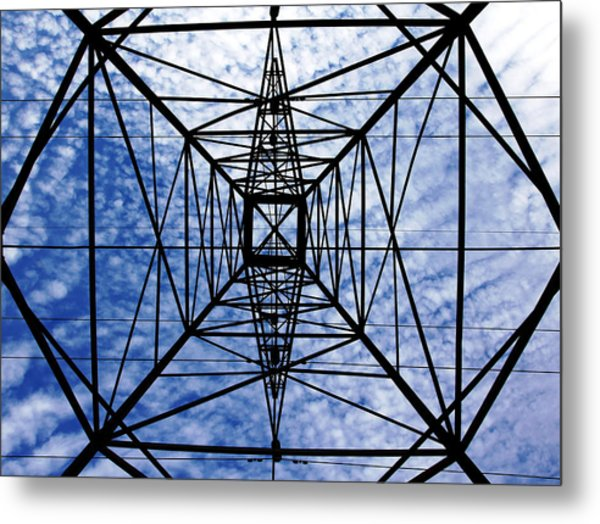 Powerful Geometry Metal Print