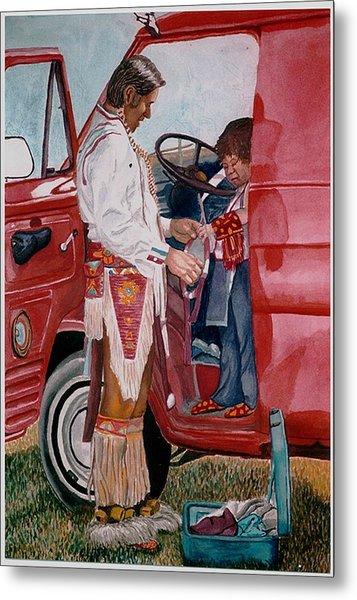 Powwow Family Metal Print by Sam Vega