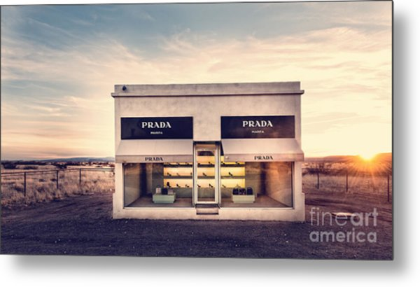 Metal Print featuring the photograph Prada Store by Prada