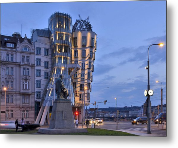 Prague Dancing House Metal Print