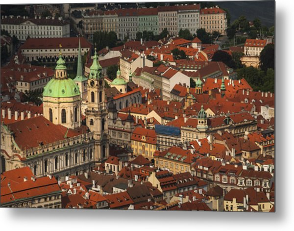 Prague From Above Metal Print