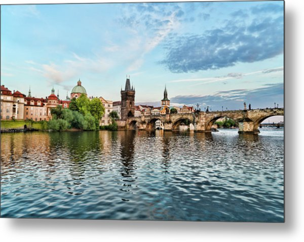 Prague From The River Metal Print