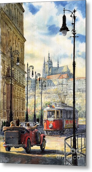 Prague Kaprova Street Metal Print
