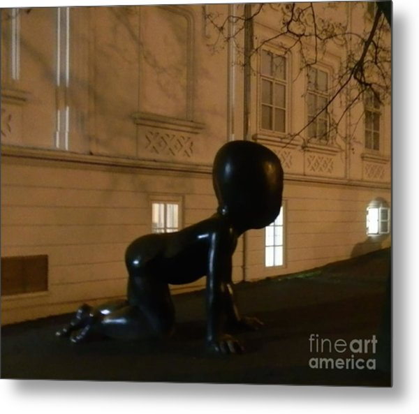 Prague's Faceless Baby Statue Metal Print