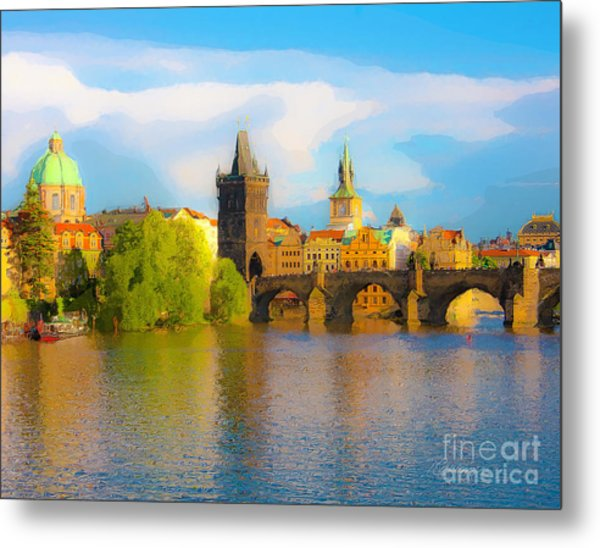 Praha - Prague - Illusions Metal Print