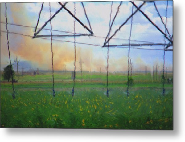 Prairie Fire Heat Metal Print