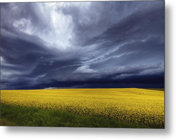 Metal Print featuring the photograph Prairie Storm by David Buhler