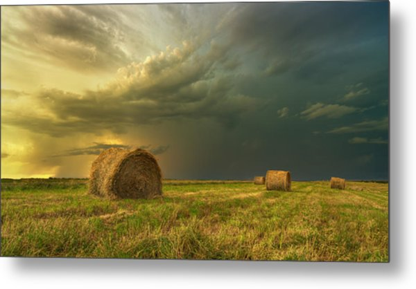 Prairie Storms Metal Print by Stuart Deacon