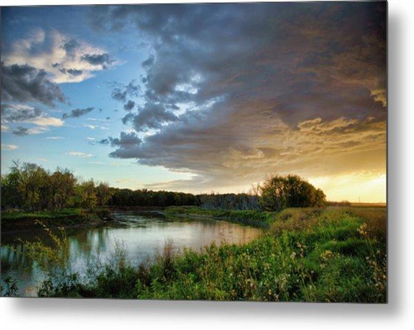 Prairie Sunset Metal Print