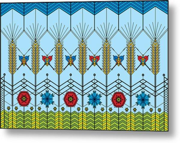 Prairie Wheat Metal Print by Vlasta Smola