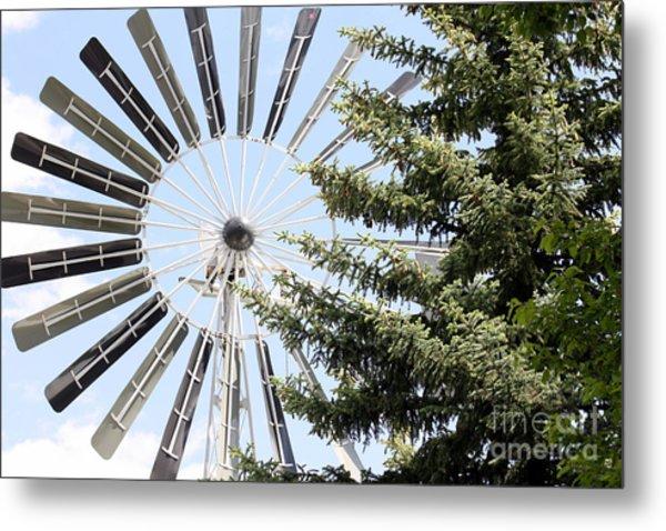 Prairie Windmill Metal Print