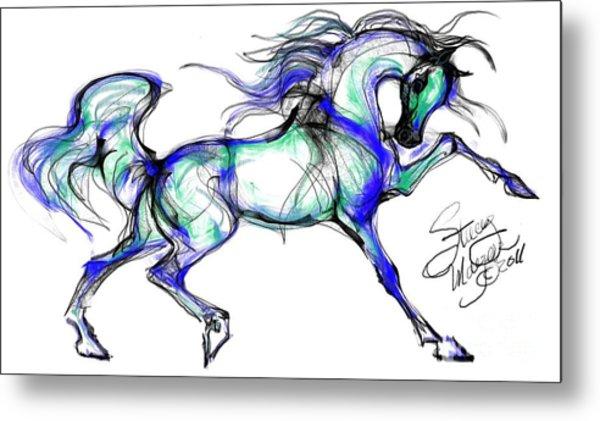 Prancing Arabian Horse Metal Print