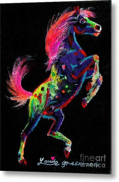 Prancing Pony Metal Print by Louise Green