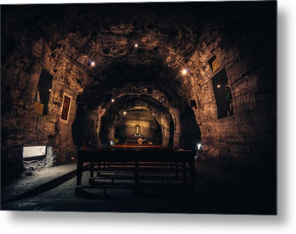 Prayer In The Mines Metal Print