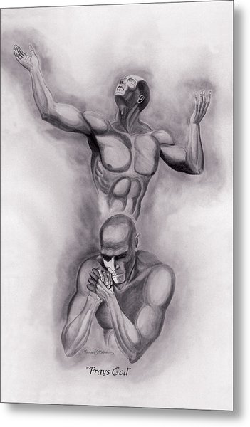 Prays God Metal Print