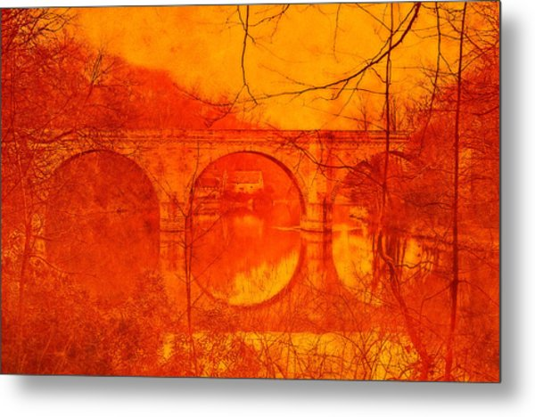 Prebends Bridge Durham City Metal Print