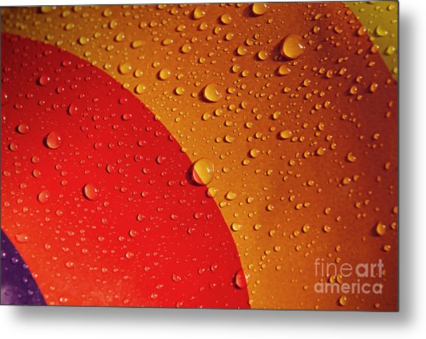 Precipitation Metal Print