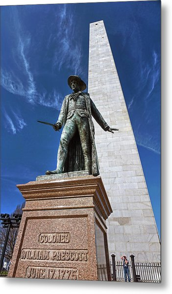 Prescott Statue On Bunker Hill Metal Print