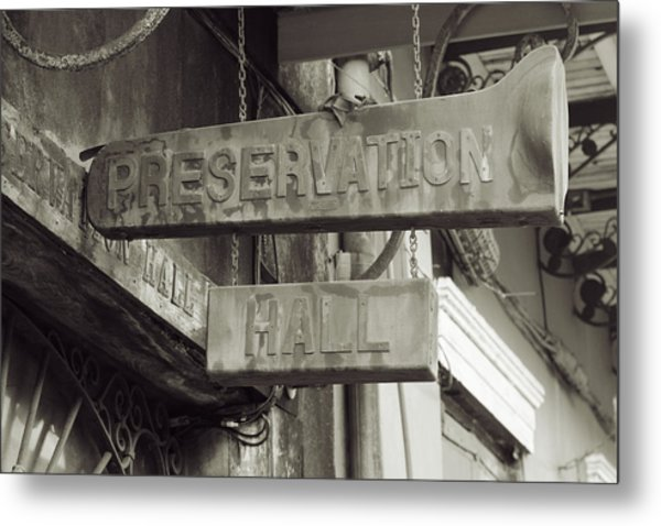 Preservation Hall, French Quarter, New Orleans, Louisiana Metal Print