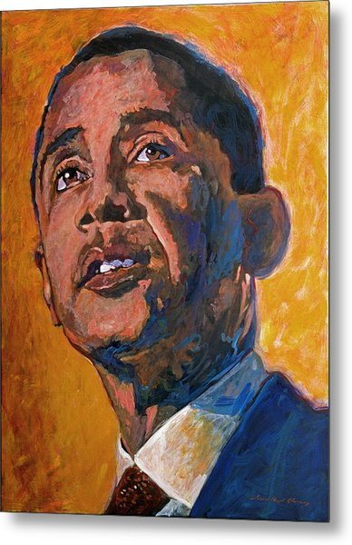 President Barack Obama Metal Print by David Lloyd Glover