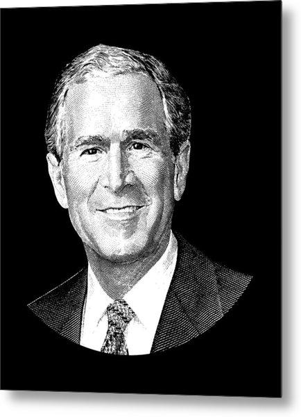 President George W. Bush Graphic Metal Print