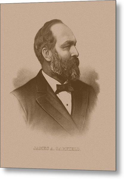 President James Garfield - Three Metal Print