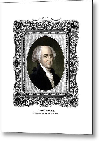 President John Adams Portrait  Metal Print
