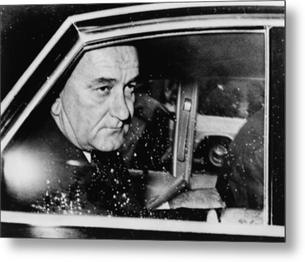 President Lyndon Johnson, Less Than 24 Metal Print by Everett