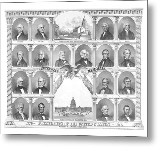 Presidents Of The United States 1776-1876 Metal Print