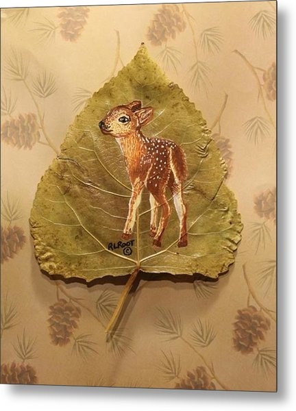 Pretty Baby Deer Metal Print