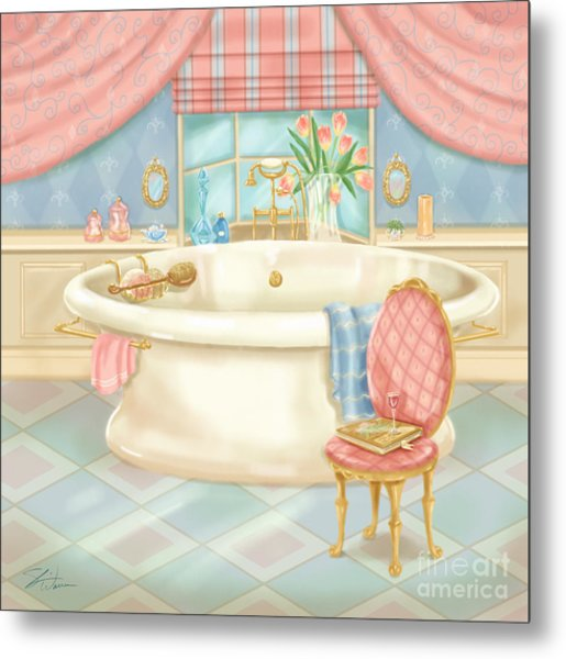 Pretty Bathrooms II Metal Print