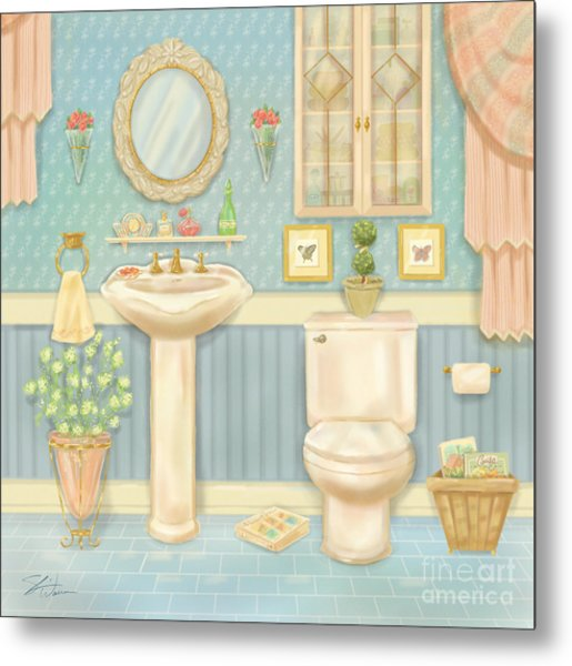 Pretty Bathrooms Iv Metal Print